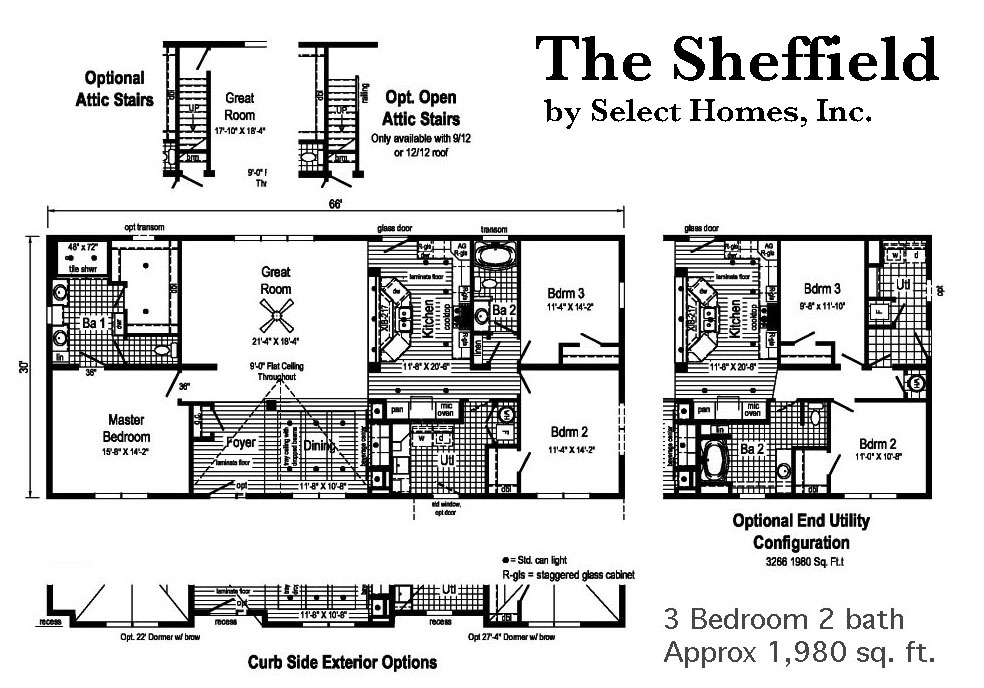 Modular home floor plans select homes inc for Select floor plans